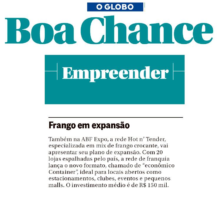 Caderno Boa Chance - Jornal o Globo.