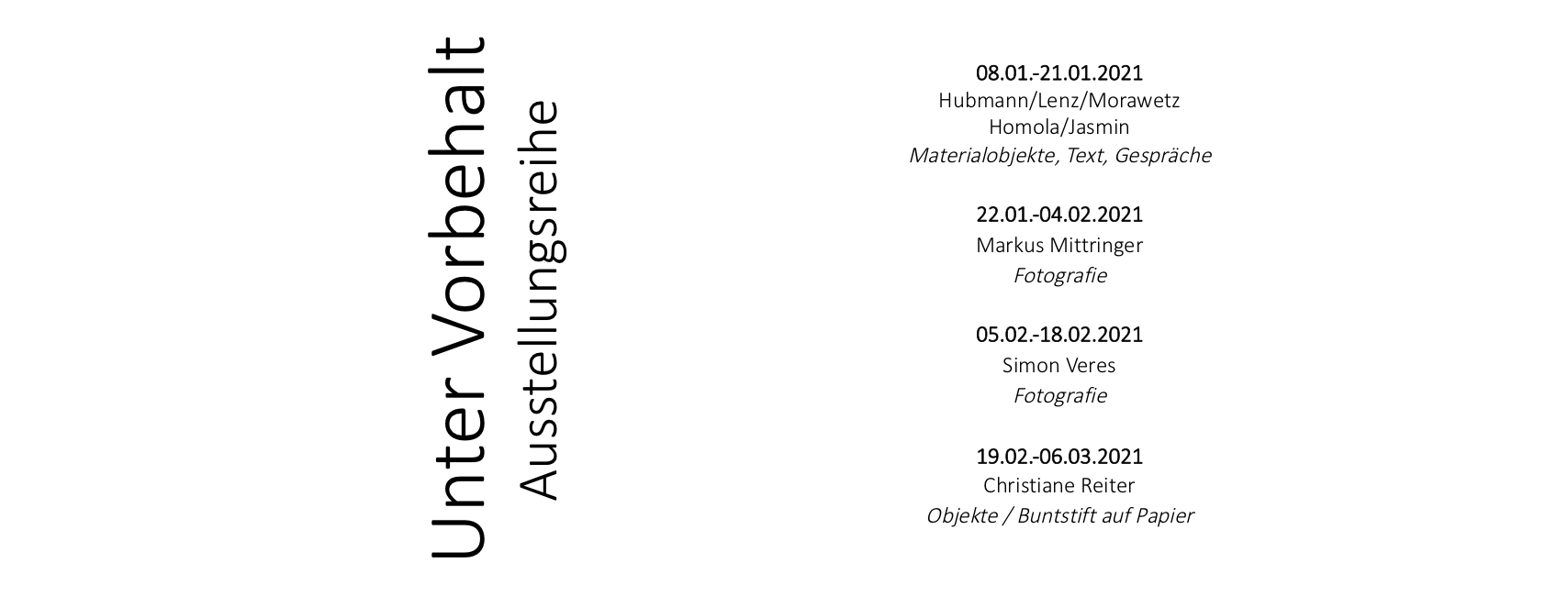 Exhibition program 2021