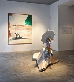 """Sculpture: """"Niemand will zu Hause bl"""