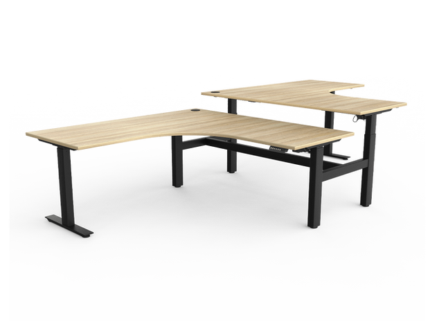 Balance Commercial | Agility Go Corner Desk Electric 2 Column
