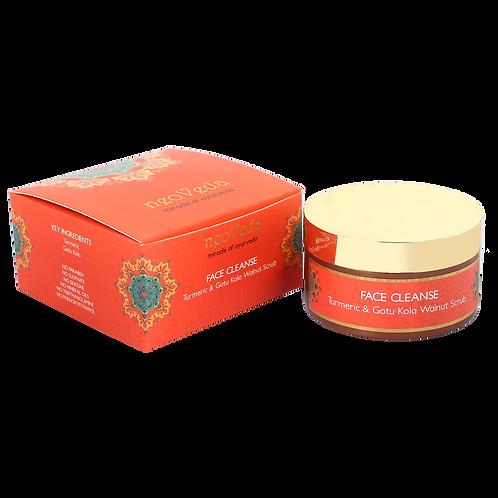 Face Cleanse | Turmeric & Gotu Kola Walnut Scrub