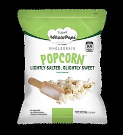 Wholepops 80g Popcorn Sweet Salty FRONT.
