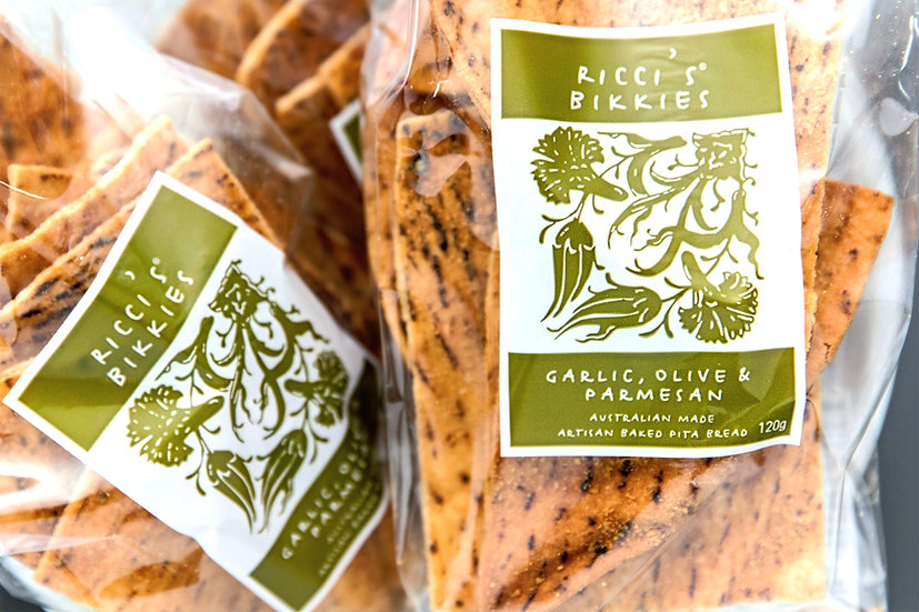 Ricci's Bikkies® | Garlic, Olive & Parmesan