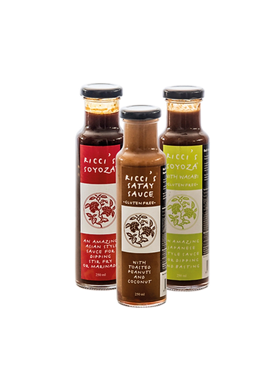 Ricci's Sauces   Mixed Pack Trio