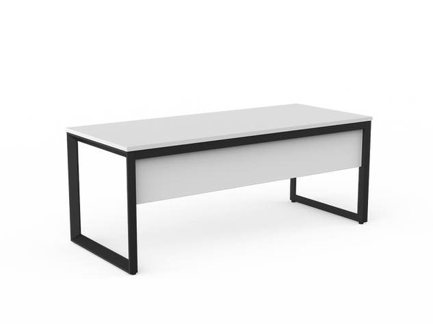 Balance Commercial   Avril Single Fixed Height Desk w Modesty Panel