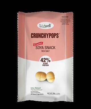 Livwell | Soya snack crunchy pops, sea salt