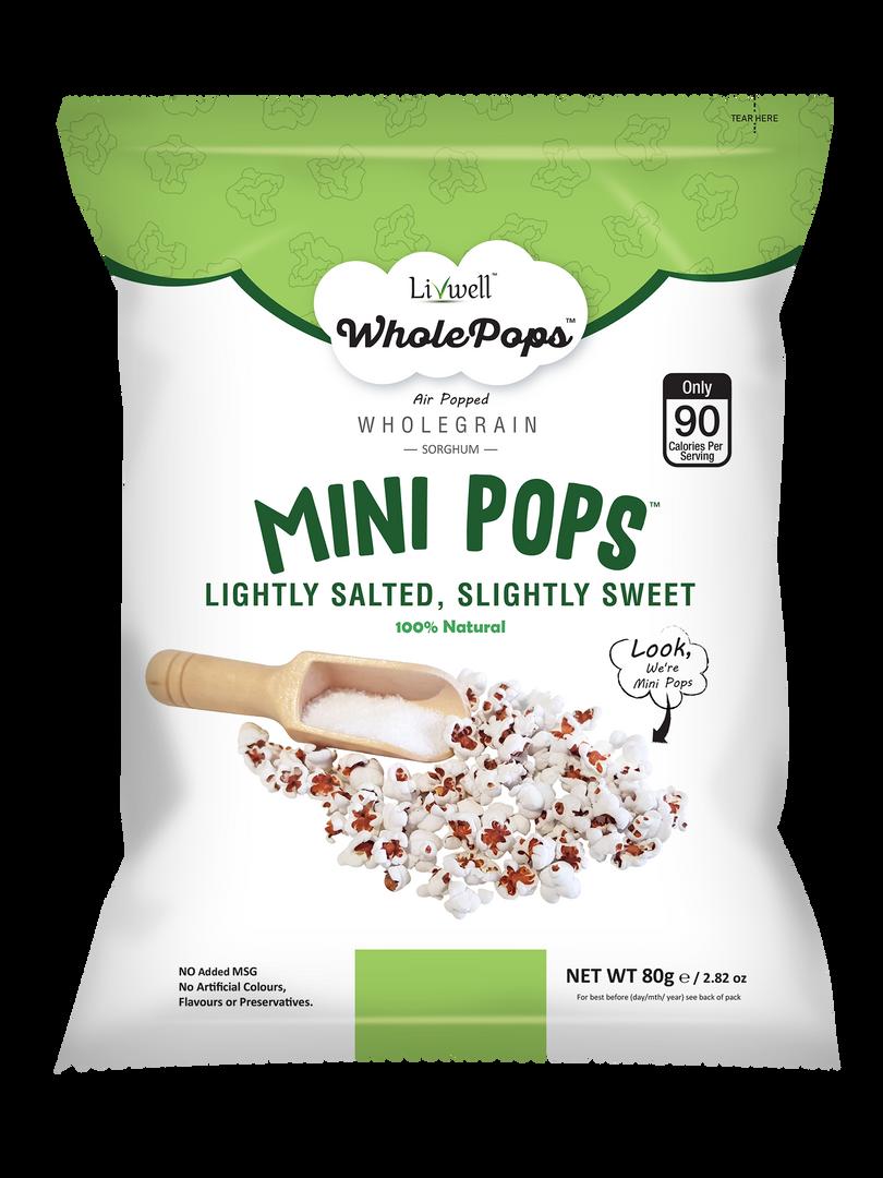 Mini Pops | Lightly Salted, Slightly Sweet | 80grams