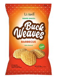 Livwell | Buckweaves snack in BBQ flavour