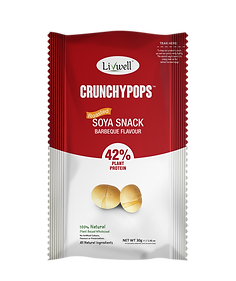 Livwell | Soya snack crunchy pops, BBQ flavour