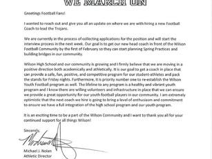 Update on Coach Hiring Process