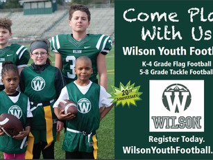 Wilson Youth Football Registration April 1st!!