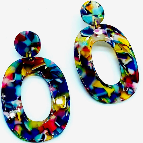 Boucle d'oreille forme oval NEW