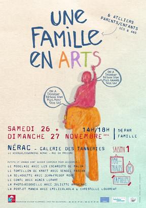 """Animation à Nérac pour """"Une Famille en Arts"""""""