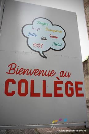 Un nouveau look pour le portail du collège Chaumié !