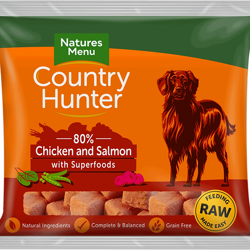 Natures Menu: Raw Country Hunter Superfood Nuggets 1kg - Chicken & Salmon