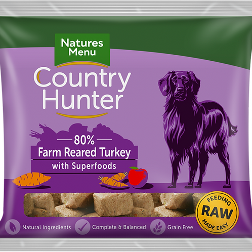 Natures Menu: Raw Country Hunter Superfood Nuggets 1kg - Turkey