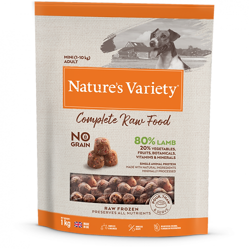 Nature's Variety: Small Breed Lamb Raw Bites 1kg