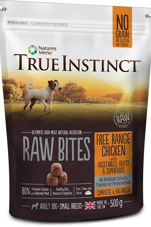 True Instinct: Small Breed Chicken Raw Bites - 500g