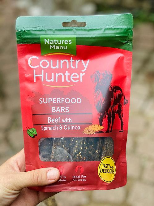 Natures Menu Country Hunter Superfood Bars - Beef