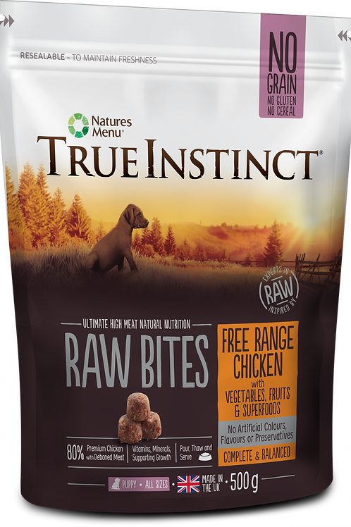 True Instinct: Free Range Chicken Puppy Raw Bites - 500g