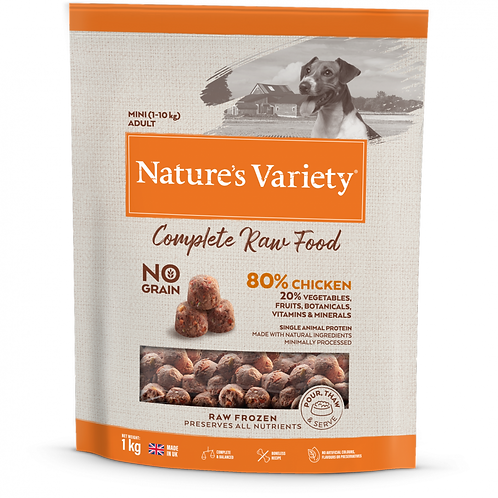 Nature's Variety: Small Breed Chicken Raw Bites 1kg