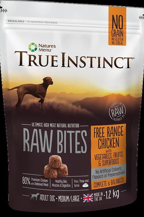 True Instinct: Free Range Chicken Raw Bites 1.2kg