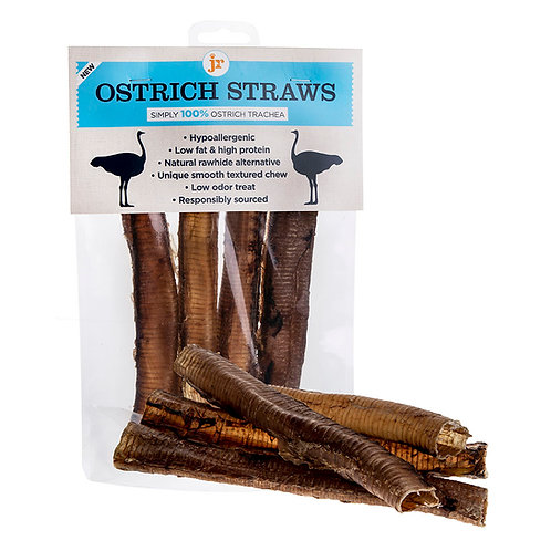 JR Pet Products: Ostrich Straws (Pack of 4)