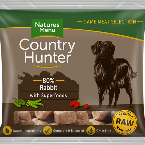Natures Menu: Raw Country Hunter Superfood Nuggets 1kg - Rabbit