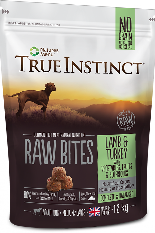 True Instinct: Lamb & Turkey Raw Bites 1.2kg