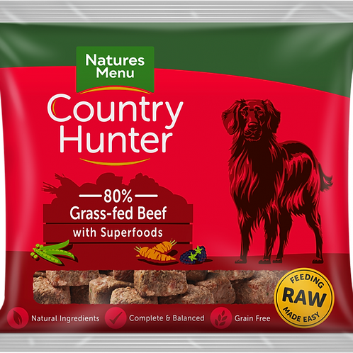 Natures Menu: Raw Country Hunter Superfood Nuggets 1kg - Beef