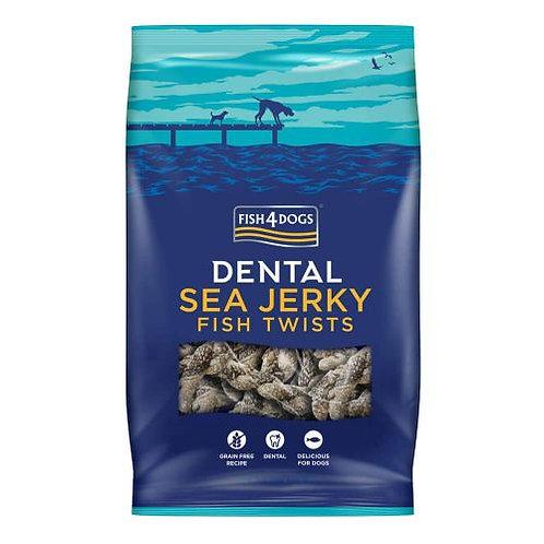 Fish4Dogs - Dental Sea Jerky Fish Twists 100g