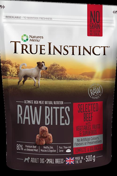 True Instinct: Small Breed Beef Raw Bites - 500g