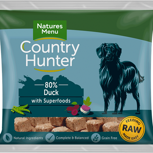 Natures Menu: Raw Country Hunter Superfood Nuggets 1kg - Duck