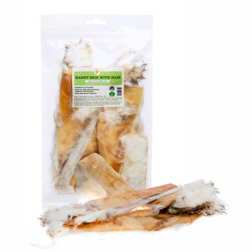 JR Pet Products: Hairy Rabbits Ears (100g)