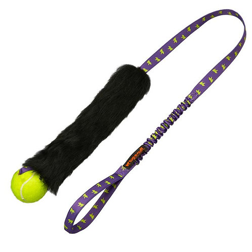 Tug-E-Nuff: Sheepskin Bungee Chaser with Tennis Ball