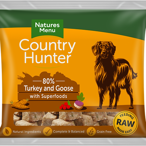 Natures Menu: Raw Country Hunter Superfood Nuggets 1kg - Turkey & Goose