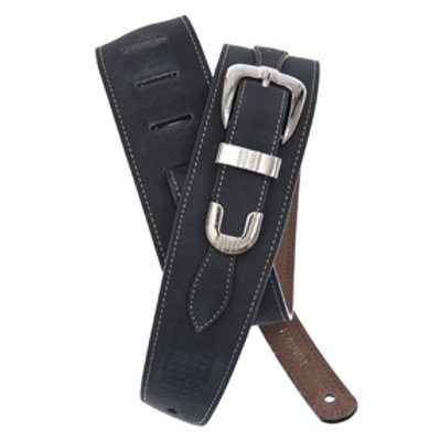 Belt Buckle Leather Guitar Strap