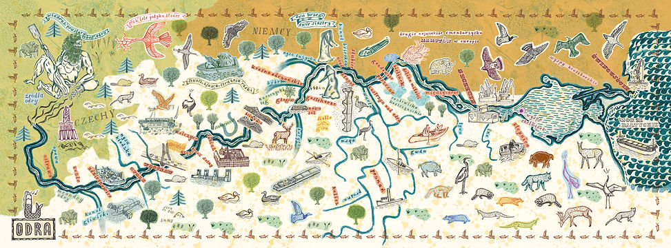 the map of the river