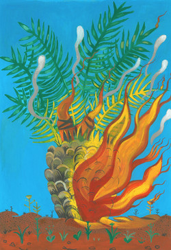 Palmtree in Fire