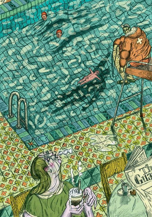 editorial illustration to the novel Pismo magazine