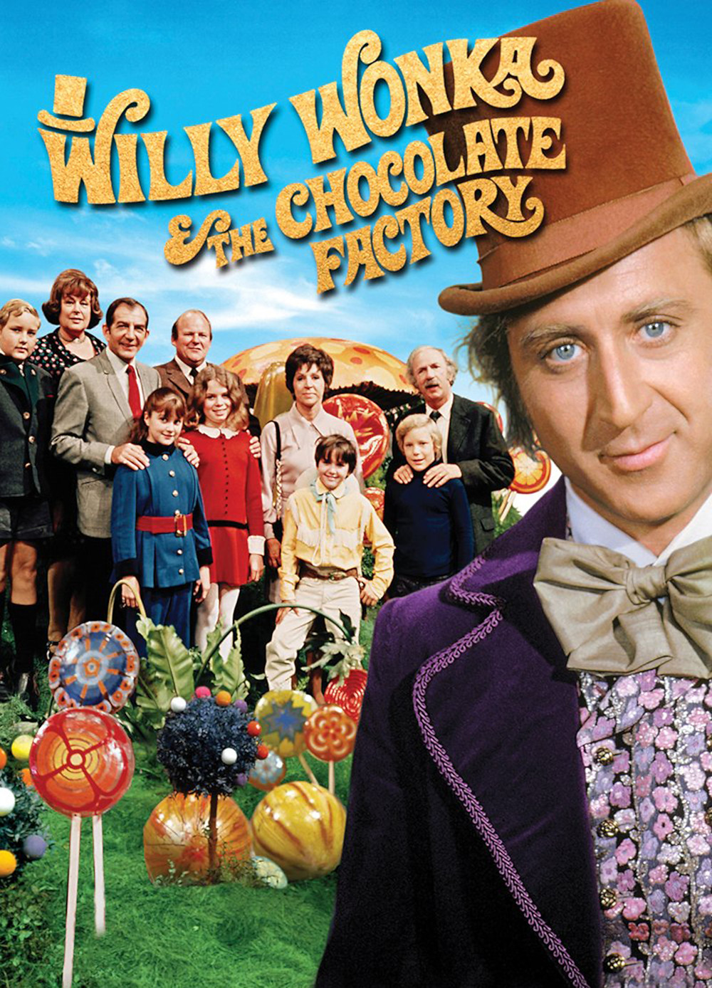 Poster filme antigo A Fantástica Fábrica de Chocolate