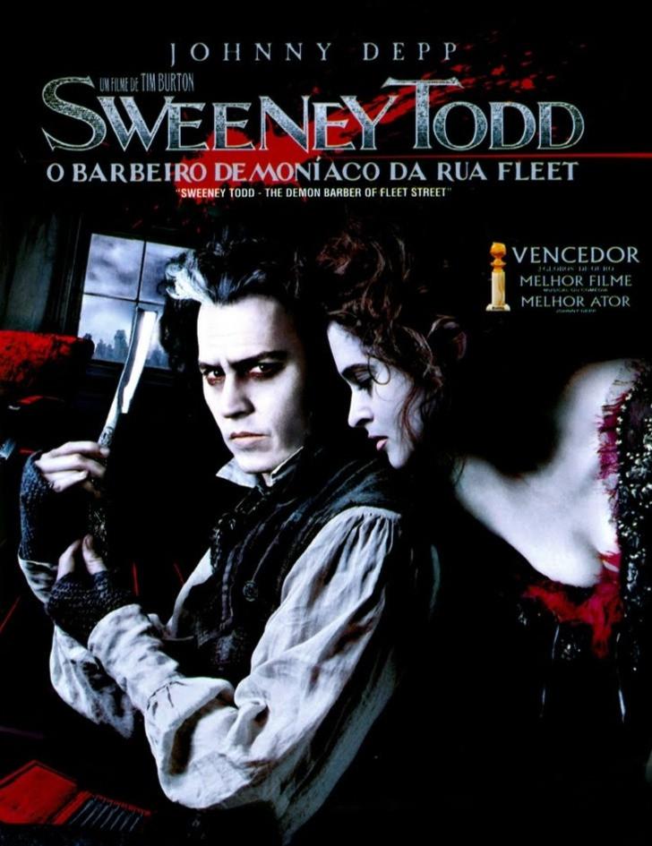 Pôster do filme Sweeney Todd: O Barbeiro Demoníaco da Rua Fleet
