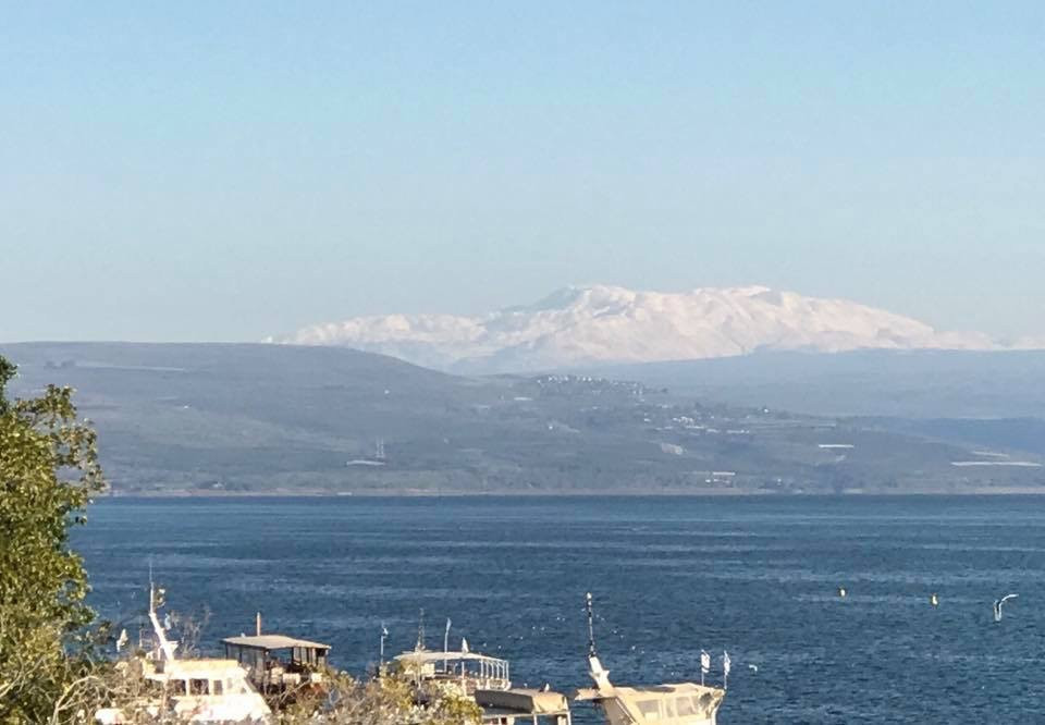 Mount Hermon in the distance