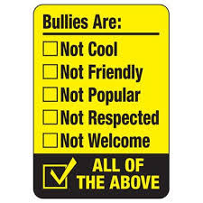 Bullys are NOT cool