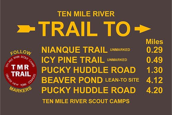 TMR Trail Sign (Camp Keowa, Northbound)