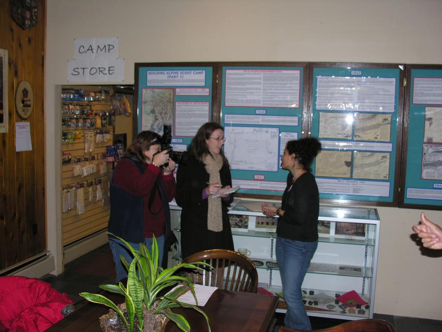 03-Bergen Record Reporter Interviewing Asst. Producer Stacey Young