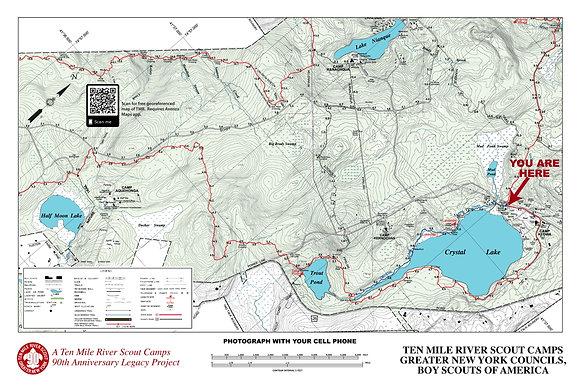 TMR Trail Map Sign (Camp Keowa, Southbound)