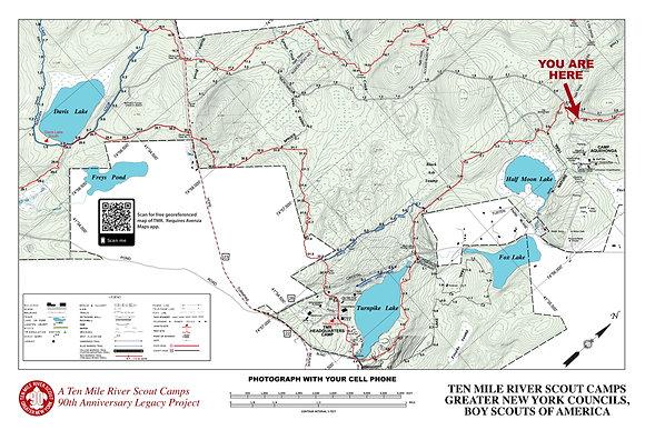 TMR Trail Map Sign (Camp Aquehonga, Southbound)