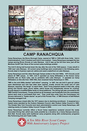 Camp Ranachqua Historic Site Sign