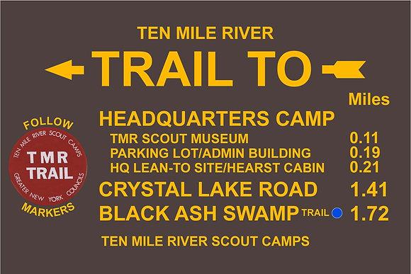 TMR Trail Sign (Headquarters, Northbound)